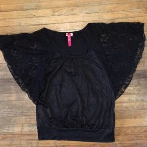 Size M black shirt with lace sleeves